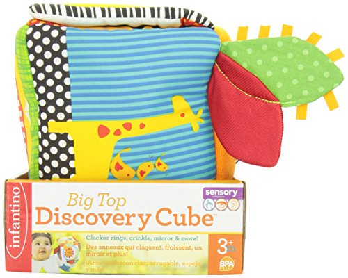 51pIPAbCwzL - Infantino Big Top Discovery Cube Development Toy