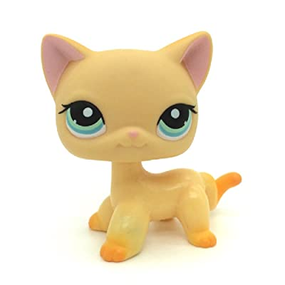 Littlest Pet Shop Collection LPS Toy #339 Yellow Short Hair Kitten Cat Rare: Toys & Games