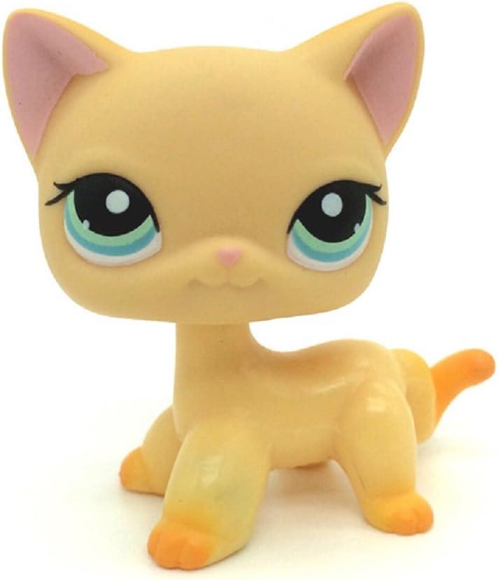 Amazon Com Littlest Pet Shop Collection Lps Toy 339 Yellow Short Hair Kitten Cat Rare Toys Games