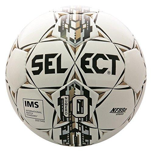 Select Numero 10 Soccer Ball  White Black Gold  5