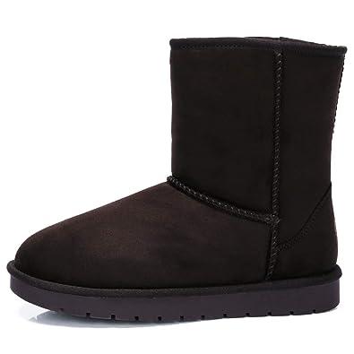 CAMEL CROWN Botas de Nieve para Mujer, Comodidad Anti-Deslizante Invierno Botas Planas para Mujer Totalmente Forradas: Amazon.es: Zapatos y complementos
