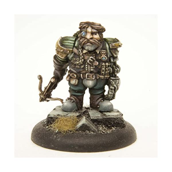 Stonehaven Dwarf Mechanist Miniature Figure (for 28mm Scale Table Top War Games) - Made in USA 5