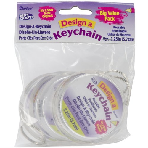 Design-A-Keychain 2.75 6/Pkg-Clear (Pkg Key)