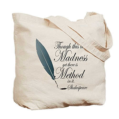Cafepress – Method in Madness Shakespeare – Borsa di tela naturale, tessuto in iuta