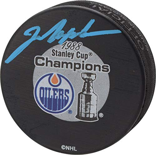 Mark Messier Edmonton Oilers Autographed 1988 Stanley Cup Champions Logo Hockey Puck - Fanatics Authentic Certified