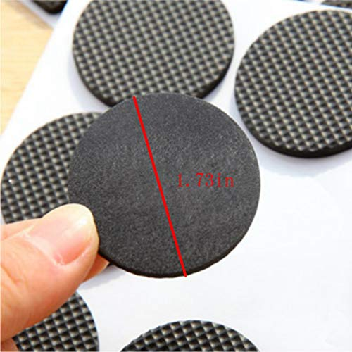 Round Square Shape Self Adhesive, Non-Slip Furniture Pads, Sofa Table Chair Sticky Floor Protector - Round by Sforza (Image #8)