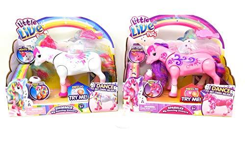 Little Live Pets Sparkles and Shimmer My Dancing Unicorn Pet Toy Bundle