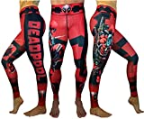 Activewear Superhero Many Styles Leggings Yoga Pants Compression Tights (Deadpool)