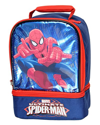 Thermos Dual Compartment Lunch Kit, (Spiderman Kit)
