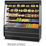 Federal Industries RSSM-578SC BE 59-in Self-Serve Display Merchandiser w/ 4-Tiers, Beige, Each