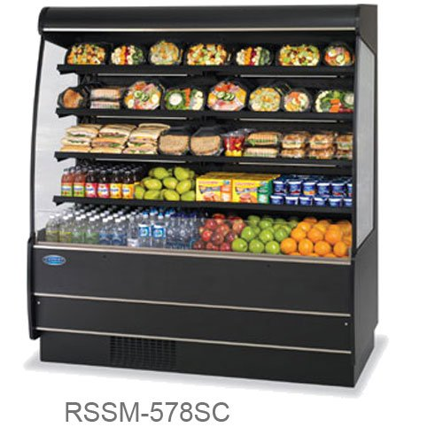 Serve Merchandiser - Federal Industries RSSM-578SC BE 59-in Self-Serve Display Merchandiser w/ 4-Tiers, Beige, Each