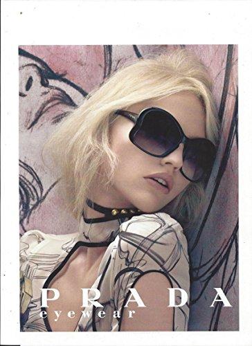 **PRINT AD** With Sasha Pivovarova For 2008 Prada - Sunglasses Prada Ad