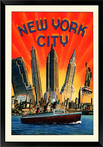 81089d7a15c Amazon.com   Vintage Style New York 1930 s Art Deco Skyscrapers Poster  Print A+ Quality   Everything Else