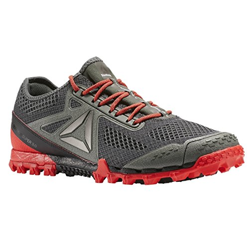 Reebok Mens All Terrain Super 3.0 Trail Runner Ironstone-carbone-dayglow Rosso