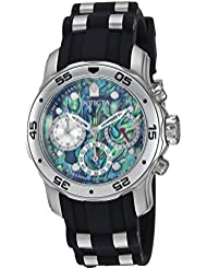 Invicta Mens Pro Diver Quartz Stainless Steel and Polyurethane Casual Watch, Color:Black (Model: 24828)