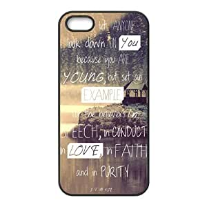 Bible Verse Rubber Cell Phone Cover Case for iPhone 5 5s