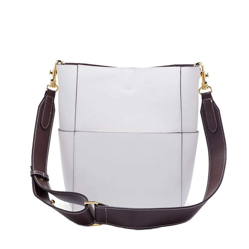 Color : White LBYMYB European and American Fashion Leather Shoulder Diagonal Package Hand Bag