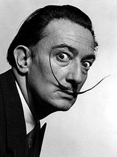 Salvador Dali Portrait - Salvador Dali Portrait Moustache Surrealism Old Retro 24x18 Print Poster