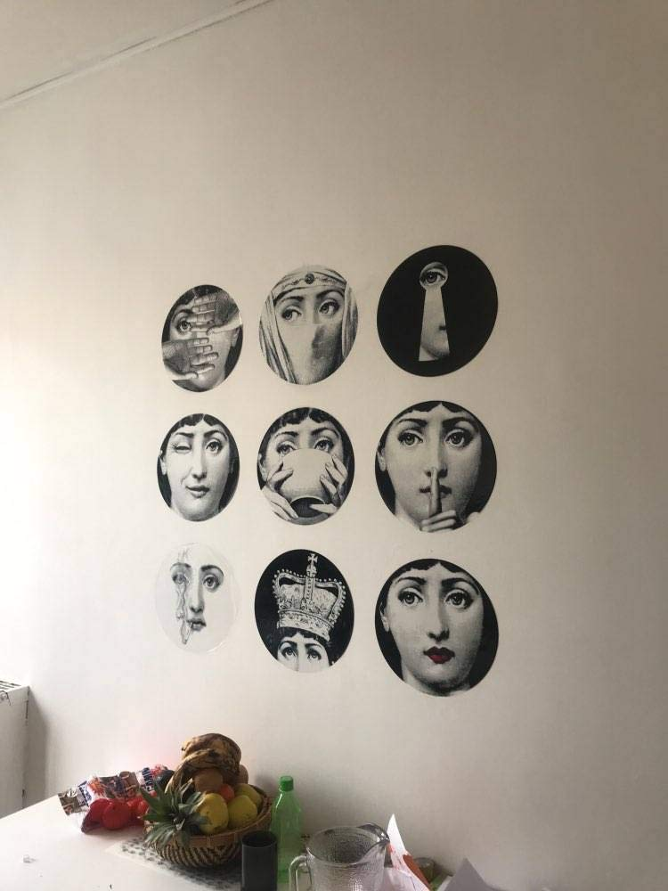 SUNNYFOR Fornasetti Designer Fornasetti Wallpaper Lo Stesso degli Adesivi Trasparenti////per La///Decorazione Living Room 1 Pz