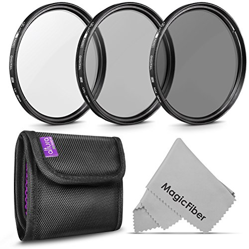 58MM Altura Photo Professional Photography Filter Kit (UV, CPL Polarizer, Neutral Density ND4) for Camera Lens with 58MM Filter Thread + Filter Pouch from Altura Photo
