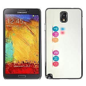 Be Good Phone Accessory // Dura Cáscara cubierta Protectora Caso Carcasa Funda de Protección para Samsung Note 3 N9000 N9002 N9005 // Text Quote Inspiring Sweet