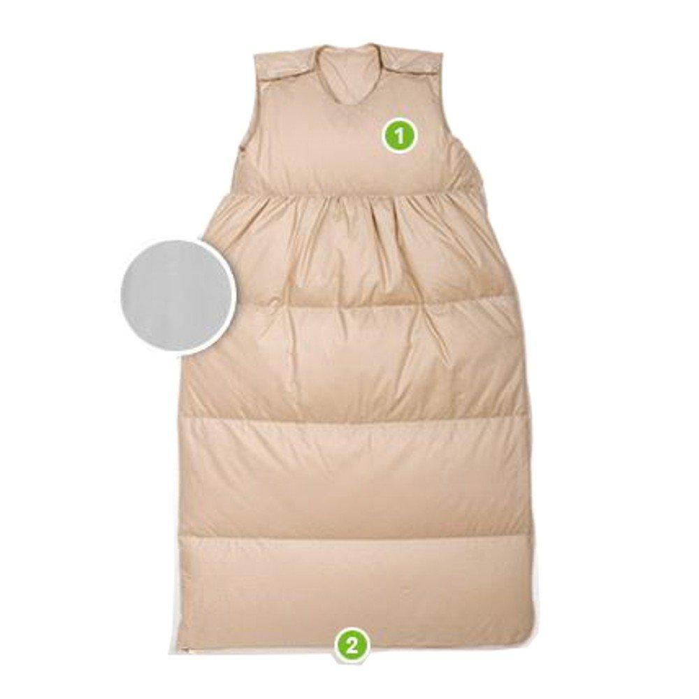 Uni beige Odenwälder Daunen-Schlafsack 150cm, Farben Uni beige