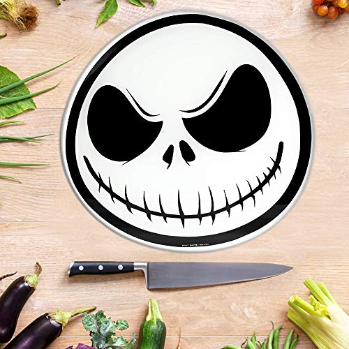 Nightmare Before Christmas Jack The Skeleton Cutting Board, Non Slip Feet - Made of Toughened Glass