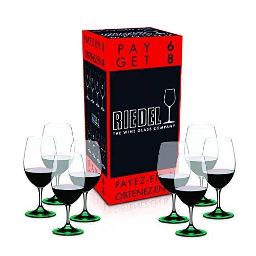 Bottom E-Green Color Riedel Ouverture Magnum Red Wine Glass, Set of 8 by TableTop King