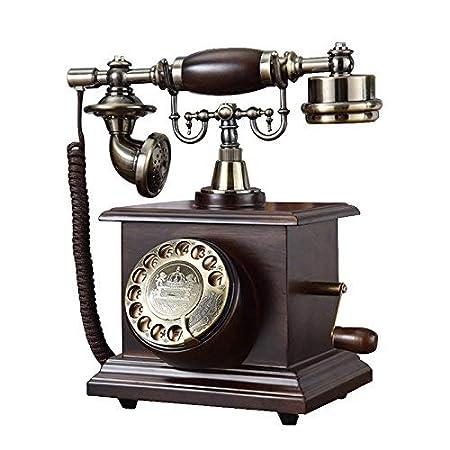 BAIF Teléfono- Teléfono Madera Maciza Moda Tocadiscos Creativo ...
