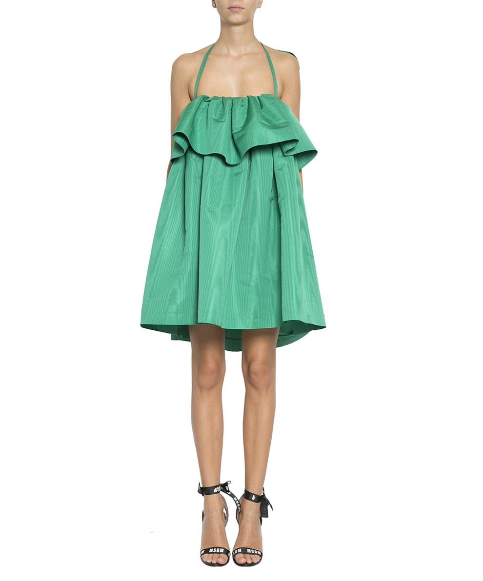 MSGM Women's 2441Mda1618410636 Green Polyester Dress