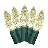 35 count green lights - Brite Star 35 Count Battery Operated LED-C6 Lights, Warm White