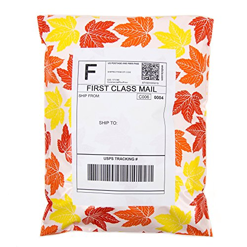 Inspired Mailers Poly Mailers 10x13 Autumn Leaves – Pack of 100 – Unpadded Shipping Bags by Inspired Mailers (Image #6)