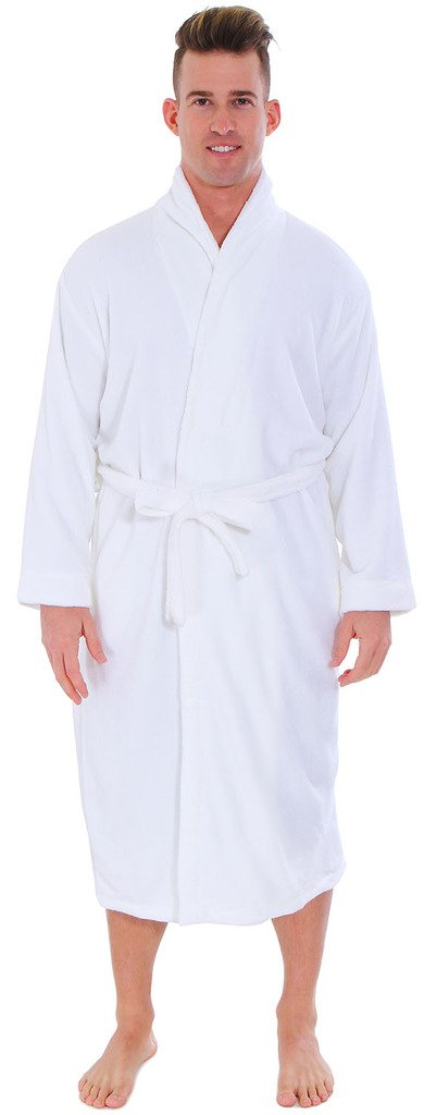 EPYA Unisex Kimono Spa Robe Waffle Weave Long White Bathrobe Nightgowns