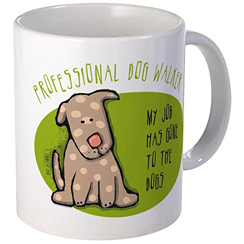 CafePress - Funny Dog Walker Mug - Unique Coffee Mug, Coffee ()