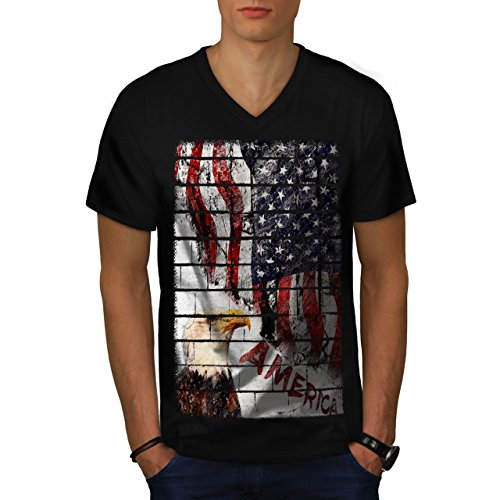 american-street-art-eagle-flag-men-new-l-v-neck-t-shirt-wellcoda