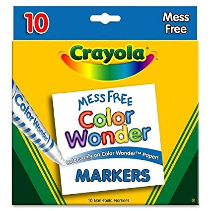Amazon.com: Color Wonder Mess Free Coloring Markers 10-Pack: Toys ...