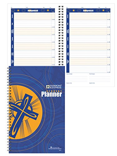 Hammond & Stephens 082970 Daily Student Planner with Religion and Bible Tabs, 192 Pages, 7