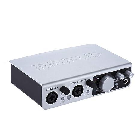 Doolland STUDIO 2 Interfaz de audio USB Tarjeta de sonido 2 ...