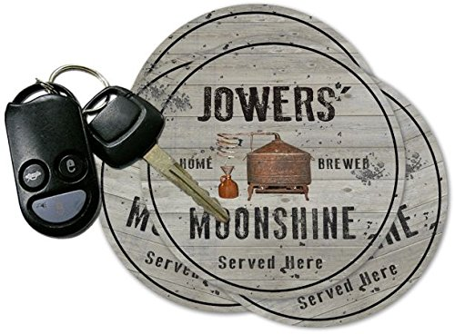 JOWERS' Home Brewed Moonshine Coasters - Set of 4