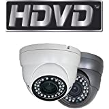 HDVD™ HDVD-TE2FK 1080P 2 Megapixel HD TVI CCTV Security Surveillance eyeball dome turret Camera GRAY COLOR 3.6mm Lens 24IR (upto 80ft)
