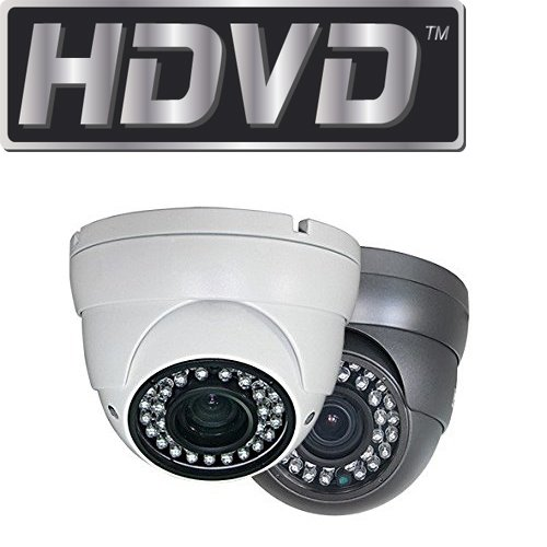 HDVD™ HDVD-TE1VK 720P Megapixel HD TVI CCTV Security Surveillance eyeball dome turret Camera GRAY COLOR 2.8-12mm Lens 36IR (upto 120ft) DC 12V