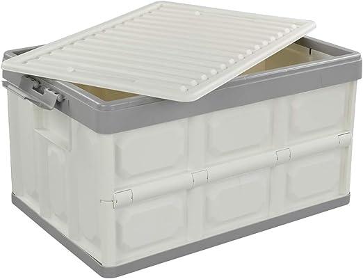 Bblie Caja Plegable con Tapa, Caja de Almacenamiento de Plástico ...