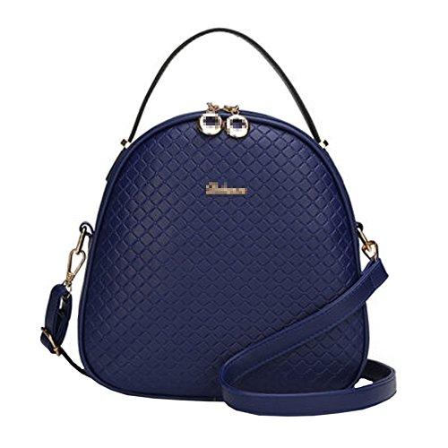 QXMEI Mode Féminine Mini Pu En Cuir Sac à Dos Lady Casual Voyage Sac à Dos College School Daypack Sac Multicolore Blue