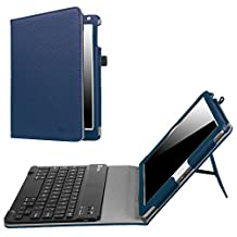 Fintie New iPad 9.7 Inch 2017 / iPad Air 2 / iPad Air Keyboard Case - Premium PU Leather Folio Stand Cover with Removable Wireless Bluetooth Keyboard for Apple iPad 9.7 2017 Model, iPad Air 1 2, Navy