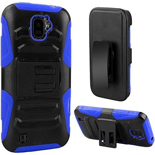 new product 31a7c 09944 ZTE JASPER Case, Phonelicious ZTE JASPER LTE Z718TL Xtreme [Heavy  Duty][Armor Grade] Rugged Hybrid Dual Layer Kickstand Holster Belt Clip  Tuff+ Screen ...