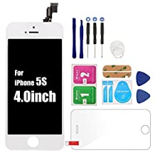 HJR For iPhone5s White LCD Screen Assembly Display Accessories Digitize Replacement, Screen Protector&Repair Tools As Gifts
