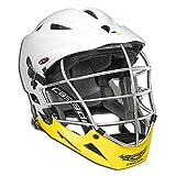 Cascade Men's Lacrosse Pro7 Helmet Pro-Fit SuperMono White/Yellow
