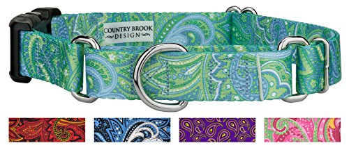 Country Brook Design | Green Paisley Martingale with Deluxe Buckle - Large