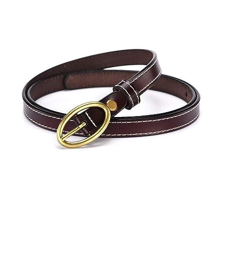 ATTDDP Cinturón Fino Decorativo para Mujer Hebilla de Cuero ...