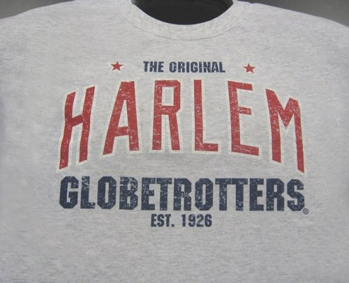 Harlem Globetrotters Retro Words T-shirt - Size: L - Grey